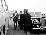 Beatles 1967 Paul McCartney with Mal Evans at astop during  Magical Mystery Tour