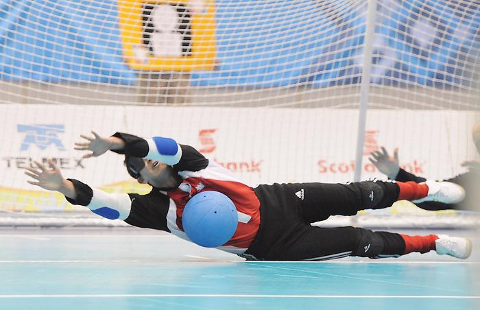 Brendan Gaulin, Guadalajara 2011 - Goalball.<br /> Canada competes in the Goalball Bronze Medal Match // Le Canada participe au match pour la médaille de bronze de goalball. 11/18/2011.