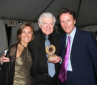 Gary Null with award about Vacine Nations and Richard Barclay at the Gala Awards Ceremony of the 2008 Hoboken International Film Festival which concluded  with Billy Dee Williams being presented the Lifetime Achievement Award and then nominees and winners were announced on June 5, 2008 at Pier A Park, Hoboken, New Jersey.  (Photo by Sue Coflin/Max Photos)