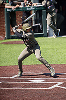 Vanderbilt Commodores third baseman Jayson Gonzalez (99) at bat against the South Carolina Gamecocks at Hawkins Field in Nashville, Tennessee, on March 21, 2021. The Gamecocks won 6-5. (Danny Parker/Four Seam Images)