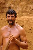 Ouro Verde, Xingu, Para State, Brazil. Portrait of goldminer. Garimpeiro.