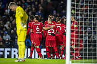 12th March 2020, Ibrox Stadiu, Glasgow, Scotland; Europa League football, Glasgow Rangers versus Bayer Leverkusen;  The Leverkusen team celebrates after the goal for the 0:1 from the penalty spot after 37 minutes