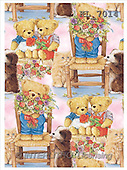 Interlitho, Keith, GIFT WRAPS, paintings, teddy, cat, dog, chair(KL7014,#GP#) everyday