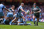 Cardiff Blues v Leicester Tigers Heineken Cup Semi-Final at the Millennium Stadium..Cardiff Blues Richie Rees clears the ball.