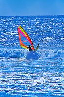 Windsurfing at a beach on the northwest side of Maui.