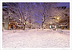 """The first print in a four part series entitled: """"Winter on the Square"""".  Please see the """"Fine Art 