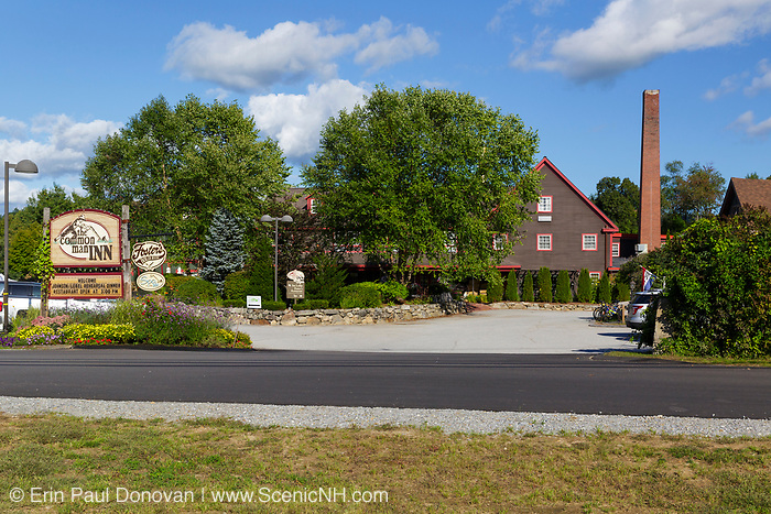 Common Man Inn & Spa in Plymouth, New Hampshire USA. This is the site of the early 20th century Kearsarge Peg Mill. The old Boston & Maine Railroad's Pemigewasset Valley Railroad, which connected Plymouth to North Woodstock, New Hampshire travels pass this site.