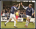26/04/2003                   Copyright Pic : James Stewart.File Name : stewart-falkirk v ayr 05.STUART TAYLOR CELEBRATES WITH LEE MILLER AFTER SCORING FALKIRK'S SECOND......James Stewart Photo Agency, 19 Carronlea Drive, Falkirk. FK2 8DN      Vat Reg No. 607 6932 25.Office     : +44 (0)1324 570906     .Mobile  : +44 (0)7721 416997.Fax         :  +44 (0)1324 570906.E-mail  :  jim@jspa.co.uk.If you require further information then contact Jim Stewart on any of the numbers above.........