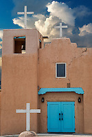 Santa Clara Pueblo Church. New Mexico