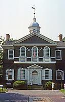 Philadelphia: Carpenter's Hall, 1770-1774. Robert Smith. A Scot cruciform based on one of Palladio's Villas. Photo '88.