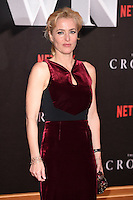 """Gillian Anderson<br /> at the World Premiere of the Netflix series """"The Crown"""" at the Odeon Leicester Square, London.<br /> <br /> <br /> ©Ash Knotek  D3192  01/11/2016"""
