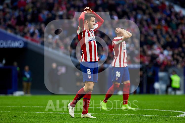 Saul Niguez of Atletico de Madrid during La Liga match between Atletico de Madrid and RCD Espanyol at Wanda Metropolitano Stadium in Madrid, Spain. November 10, 2019. (ALTERPHOTOS/A. Perez Meca)