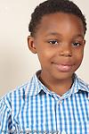 portrait of 8 year old boy closeup vertical