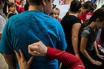 Canadian Olympians and Paralympians meet with local youth at the Gatineau Sports Centre, Gatineau, Quebec, Wednesday November 2, 2016.    COC Photo/David Jackson<br /> <br /> Des athlètes olympiques et paralympiques rencontrent de jeunes élèves au centre sportif de Gatineau, Quebec. Wednesday November 2, 2016. COC Photo/David Jackson