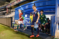 20190227 - LARNACA , CYPRUS : Hungarian midfielder Henrietta Csiszar (left) and Thai captian Sunisa Srangthaisong (right)  pictured during a women's soccer game between Thailand and Hungary , on Wednesday 27 February 2019 at the Antonis Papadopoulos Stadium in Larnaca , Cyprus . This is the first game in group B for both teams during the Cyprus Womens Cup 2019 , a prestigious women soccer tournament as a preparation on the FIFA Women's World Cup 2019 in France and the Uefa Women's Euro 2021 qualification duels. PHOTO SPORTPIX.BE | STIJN AUDOOREN