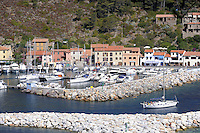 - Capraia island (Tuscan Archipelago) the tourist harbor <br /> <br /> - isola di Capraia (Arcipelago Toscano), il porto turistico