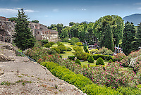 Fine Art Landscape Photograph of the architectural ruins in Pompeii, near the city of Naples, Italy.<br />