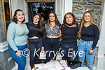 Moira Hanafin from Tralee celebrating her 24th birthday in the Brogue Inn on Friday, l to r: Alex White, Sarah Kelliher, Moira Hanafin, Mary Brosnan and Michaela O'Sullivan.