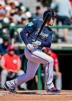 25 February 2019: Atlanta Braves first baseman Freddie Freeman at bat during a pre-season Spring Training game against the Washington Nationals at Champion Stadium in the ESPN Wide World of Sports Complex in Kissimmee, Florida. The Braves defeated the Nationals 9-4 in Grapefruit League play in what will be their last season at the Disney / ESPN Wide World of Sports complex. Mandatory Credit: Ed Wolfstein Photo *** RAW (NEF) Image File Available ***