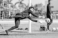 BRADENTON, FL - JANUARY 21: JT Marcinkowski makes the save during a training session at IMG Academy on January 21, 2021 in Bradenton, Florida.