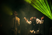 The Dub Pistols onstage.