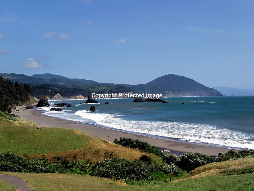 Summer afternoon at the beach, Port Orford, OR.