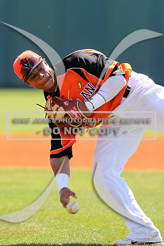 Netherlands second baseman Dwayne Kemp #7 during a game vs the Philadelphia Phillies at Al Lang Field in St. Petersburg, Florida;  March 13, 2011.  Photo By Mike Janes/Four Seam Images
