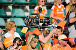 The Hague, Netherlands, June 06: Camera man before the field hockey group match (Men - Group B) between Germany and The Netherlands on June 6, 2014 during the World Cup 2014 at Kyocera Stadium in The Hague, Netherlands. Final score 0-1 (0-1) (Photo by Dirk Markgraf / www.265-images.com) *** Local caption ***