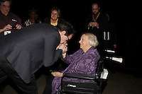 Parti Quebecois leader Pierre-Karl peladeau <br /> Claude Legault, Leader, Coalition Avenir Quebec<br /> Francoise David Quebec Solidaire and<br /> Lise Payette attend<br /> the Women's Summit in Montreal, March 4, 2016.<br /> <br /> <br /> Photo : Pierre Roussel<br />  - Agence Quebec Presse<br /> <br /> <br /> <br /> <br /> <br /> <br /> <br /> <br /> <br /> <br /> <br /> .