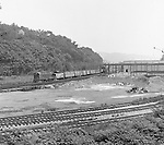 Corliss PA - View of a train derailment at the PA Railroad station at Corliss Pennsylvania.  The assignment was for the PA Railroad due to a train derailment near the station.  Brady Stewart Studio was a contract photography studio for the railroad from 1955 through 1965.