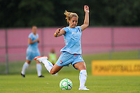 Kacey White (20) of Sky Blue FC. Sky Blue FC defeated FC Gold Pride 2-0 during a Women's Professional Soccer match at Yurcak Field in Piscataway, NJ, on August 05, 2009.