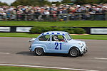Goodwood Festival of Speed. Goodwood Sussex. UK. Fiat driven and wned by Arturo Merzario and Geoff Turral.