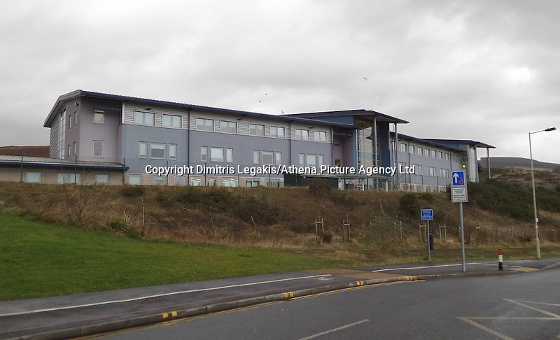 COPY BY TOM BEDFORD<br /> Pictured: Maesteg Comprehensive School in south Wales. Thursday 11 December 2014<br /> Re: Inquest into the death of teenager Ashley Daniel Talbot held at Aberdare Coroner's Court.<br /> Ashley, 15, died at the scene and another boy, 13, suffered minor injuries in December 2014, following a crash involving a school minibus en route to a rugby match,at Maesteg Comprehensive School in south Wales.