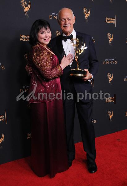 10 September  2017 - Los Angeles, California - Gerald McRaney, Delta Burke. 2017 Creative Arts Emmys - Press Room held at Microsoft Theatre L.A. Live in Los Angeles. Photo Credit: Birdie Thompson/AdMedia