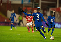 11th February 2021; Oakwell Stadium, Barnsley, Yorkshire, England; English FA Cup 5th round Football, Barnsley FC versus Chelsea; Antonio Rüdiger of Chelsea clearing the ball long up field