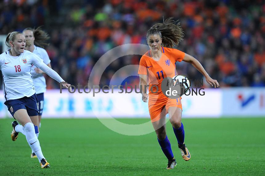 VOETBAL: GRONINGEN: Euroborg Stadion, 24-10-2017, vrouwenvoetbal Nederland - Noorwegen, uitslag 1- 0, ©foto Martin de Jong