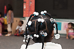 September 14, 2011. Raleigh, NC. . Mia Cofield's hair for the day.. Project Enlightenment, a public pre-kindergarten program for at risk children, has been threatened with closure due to state wide budget cuts..