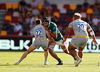 5th June 2021; Brentford Community Stadium, London, England; Gallagher Premiership Rugby, London Irish versus Wasps; Adam Coleman of London Irish tackled by Jimmy Gopperth of Wasps