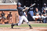 Vanderbilt Commodores second baseman Tyler Campbell (2) swings at a pitch during a game agains against the Tennessee Volunteers at Lindsey Nelson Stadium on April 24, 2016 in Knoxville, Tennessee. The Volunteers defeated the Commodores 5-3. (Tony Farlow/Four Seam Images)