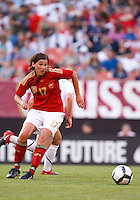 22 MAY 2010:  Germany's Ariane Hingst during the International Friendly soccer match between Germany WNT vs USA WNT at Cleveland Browns Stadium in Cleveland, Ohio. USA defeated Germany 4-0 on May 22, 2010.