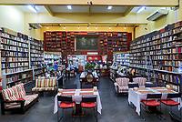 Cafe e livraria sebo no centro do Rio de Janeiro. 2019. Foto Juca Martins.
