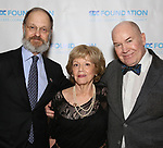 """David Hyde Pierce, Victoria Traube and Jack O'Brien  during The """"Mr. Abbott"""" Award 2019 at The Metropolitan Club on 3/25/2019 in New York City."""