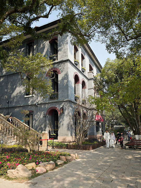 The Impressive Three-Storey Consulate On Jiangxin Island, Wenzhou (Wenchow).  Built In 1894.<br /> <br /> (Update June 2018: Sadly the building is now closed and is in very poor condition.)