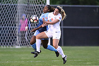 Piscataway, NJ - Sunday April 30, 2017: Kayla Mills and Caroline Flynn during a regular season National Women's Soccer League (NWSL) match between Sky Blue FC and FC Kansas City at Yurcak Field.