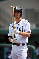 Detroit Tigers Gage Workman (27) on deck during a Florida Instructional League game against the Pittsburgh Pirates on October 16, 2020 at Joker Marchant Stadium in Lakeland, Florida.  (Mike Janes/Four Seam Images)