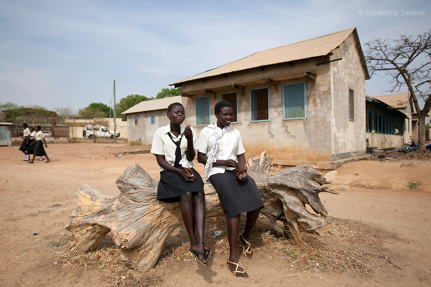 For UNESCO<br /> <br /> Secondary school Sudanese students during a breack at Supiri Secondary School in Juba, South Sudan. The school is mix boys and girls and is taught in arabic language. Photo credit: Benedicte Desrus