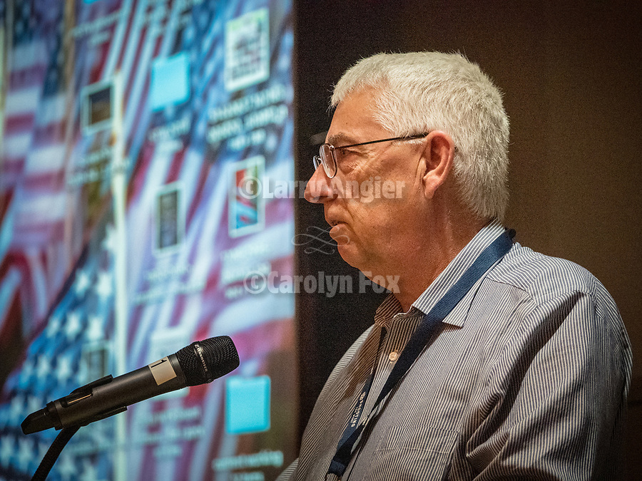 Winnemucca Major Rich Stone opens the Friday symposium at STW XXXI, Winnemucca, Nevada, April 12, 2019.<br /> .<br /> .<br /> .<br /> .<br /> @shootingthewest, @winnemuccanevada, #ShootingTheWest, @winnemuccaconventioncenter, #WinnemuccaNevada, #STWXXXI, #NevadaPhotographyExperience, #WCVA