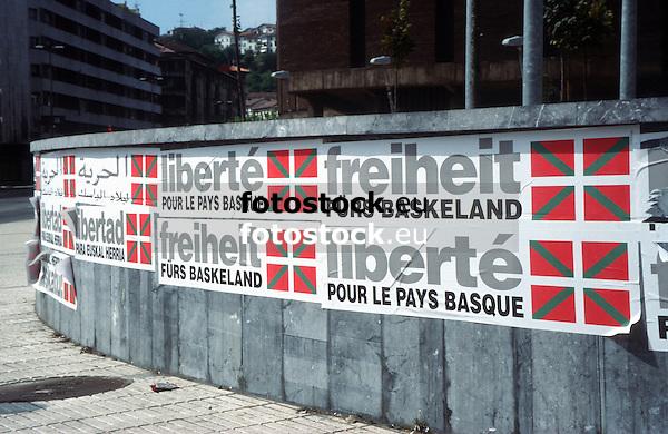 Freedom for the Basque Country<br /> <br /> Libertad para Euskal Herria (cast.: País Vasco)<br /> <br /> Freiheit für das Baskenland<br /> <br /> 3826 x 2478 px<br /> Original: 35 mm slide transparency