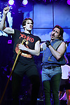 """CJ Eldred and Mitchell Jarvis during the tech rehearsal for """"Rock of Ages"""" 10th Anniversary Production on June 13, 2019 at the New World Stages in New York City."""