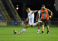 Saturday 5th September 2020 | PRO14 Semi-Final<br /> <br /> Ian Madigan converts this penalty kick at full time wins the match for Ulster during the Guinness PRO14 Semi-Final between Edinburgh and Ulster at the BT Murrayfield Stadium Edinburgh, Scotland. Photo by David Gibson / Dicksondigital